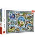 Пъзел Trefl от 1000 части - Замъци по света