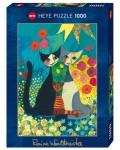 Пъзел Heye от 1000 части - Легло от цветя, Росина Вахтмайстер