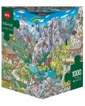 Пъзел Heye от 1000 части - Алпийски забавления, Биргит Танк