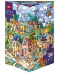 Пъзел Heye от 1500 части - Щастлив град, Рита Берман