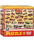 Пъзел Eurographics от 100 части –  Пожарникарски камиони