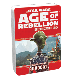 Допълнение за ролева игра Star Wars: Age of Rebellion - Advocate Specialization Deck