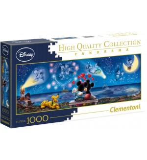 Панорамен пъзел Clementoni от 1000 части - Мики и Мини Маус