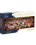 Панорамен пъзел Clementoni от 1000 части - Оркестърът на Дисни