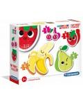 Пъзел Clementoni 4 в 1 - Плодове и зеленчуци