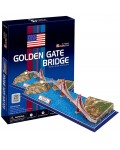 3D Пъзел Cubic Fun от 20 части – Golden Gate Bridge