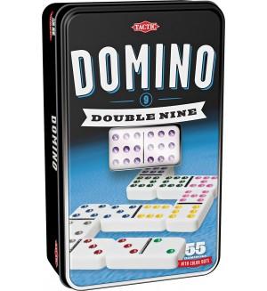 Класическа игра Tactic - Домино 9, в метална кутия