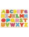 Дървен пъзел Lelin - Английската азбука, главни букви