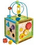 Дървен куб Eichhorn - Игрален център, с активности
