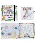 Детски карти за оцветяване Floss and Rock Magic Water - Джунгла