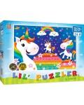 Детски пъзел Master Pieces от 24 части - Цветни еднорози и дъга