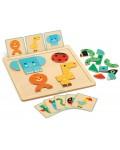 Детска игра Djeco - GeoBasic, с магнитни карти