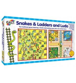 Детски игри 2 в 1 Galt - Змии и стълби и  Не се сърди човече
