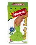 Кинетичен пясък в кутия Heroes – Зелен цвят, 1000 g