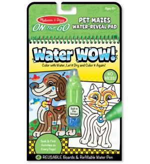Книжка за оцветяване Melissa & Doug - Рисуване с вода по линии
