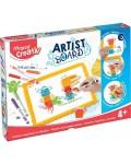 Комплект магнитна дъска  Maped Creativ - Artist Board,  с фигурки