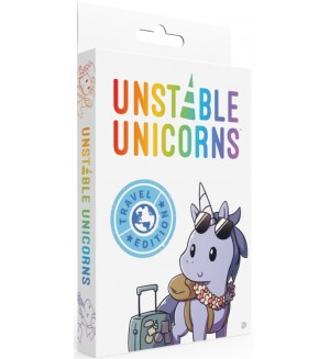 Настолна игра Unstable Unicorns: Travel Edition - парти