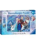 Блестящ пъзел Ravensburger от 100 XXL части - Замръзналото кралство
