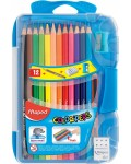 Цветни моливи Maped Color Peps - 12 цвята, синя кутия