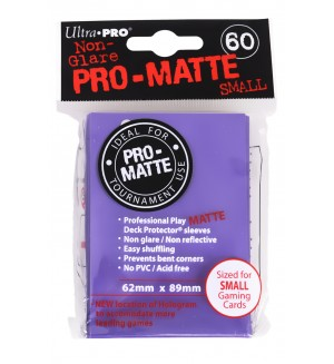 Ultra Pro Card Protector Pack - Small Size (Yu-Gi-Oh!) Pro-matte - Лилави 60бр.