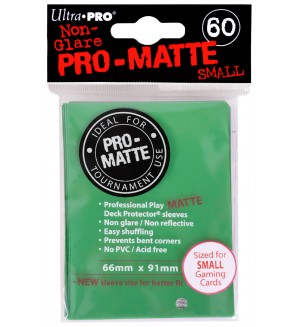 Ultra Pro Card Protector Pack - Small Size (Yu-Gi-Oh!) Pro-matte - Зелени 60 бр.