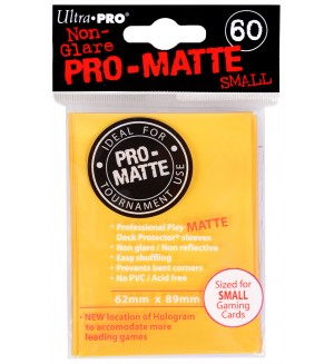 Ultra Pro Card Protector Pack - Small Size (Yu-Gi-Oh!) Pro-matte - Жълти 60 бр.