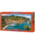Панорамен пъзел Castorland от 4000 части - Гледка към Портофино, Италия